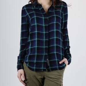 Košile Superdry SUPERSIZED CHECKED SHIRT Modrá - MVStore.cz