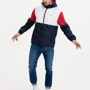 Colorblock Windbreaker Bunda Tommy Jeans Modrá - MVStore.cz
